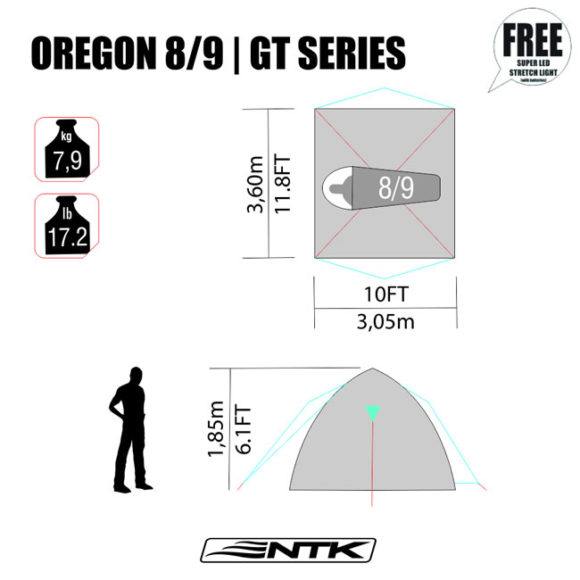 Oregon GT 8/9 Tent NTK